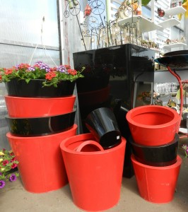 Red & Black pots
